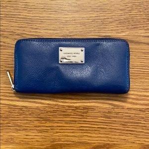 Michael Kors Royal Blue Leather Wallet